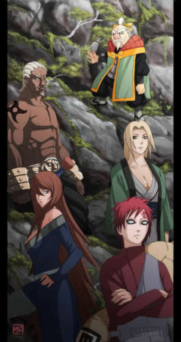 Naruto Shippuuden fond d'écran probably with animé entitled The 5 Kages