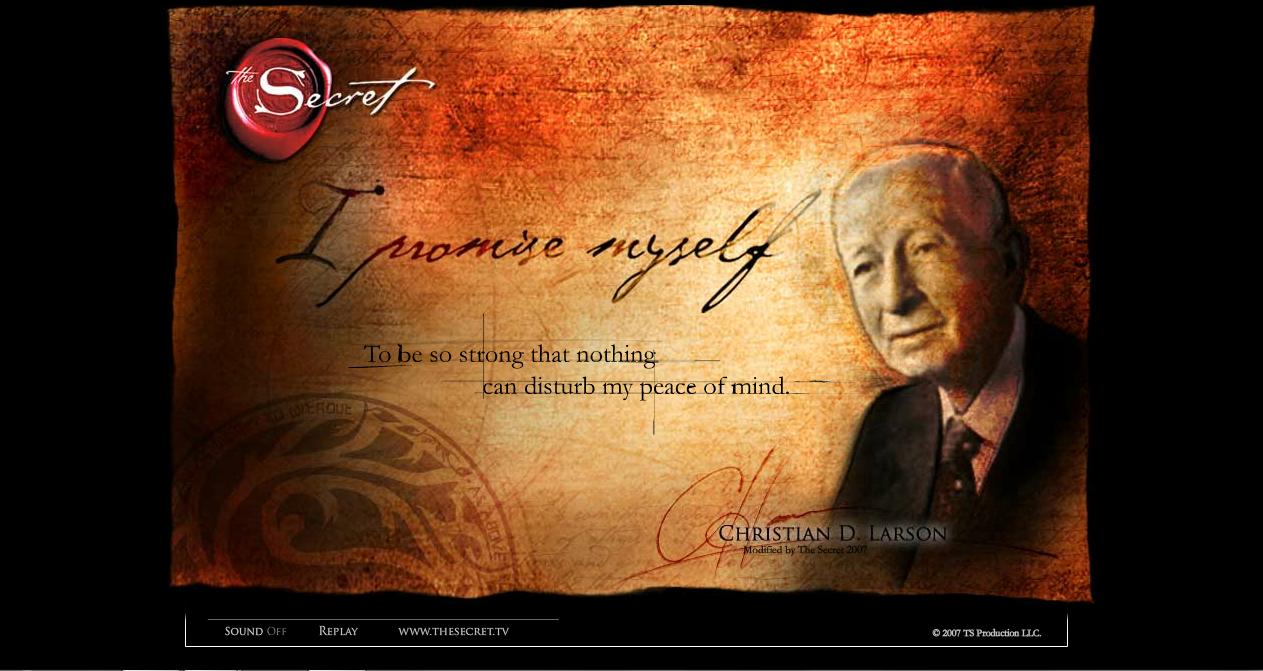 the secret images the secret official website screen