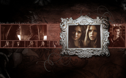 Vampire Diaries Hintergrund probably containing a sign and a fleur de lis entitled The Vampire Diaries ღ