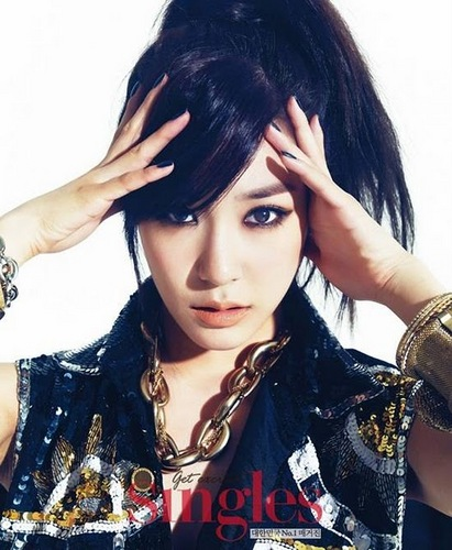 Tiffany Hwang wallpaper with a portrait titled Tiffany for Singles Magazine