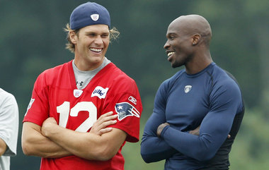 Tom Brady and Chad Ochocinco 2011 Preseason Patriots