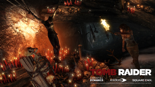 Tomb Raider wallpaper probably with a fire, a fire, and a fireplace entitled Tomb Raider