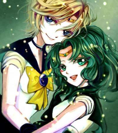 Sailor Uranus and Sailor Neptune fond d'écran with animé titled Uranus and Neptune