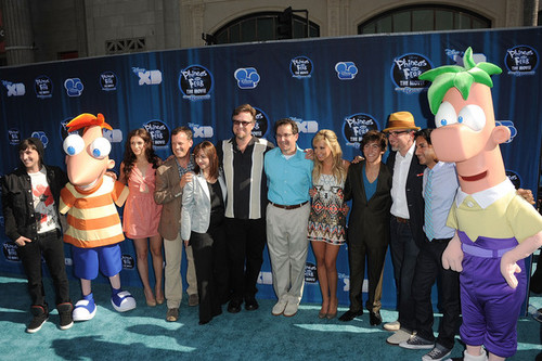 Vincent and the cast of Phineas & Ferb