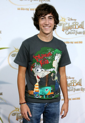 Vincent at the Tinker cloche, bell and the Great Fairy Rescue screening