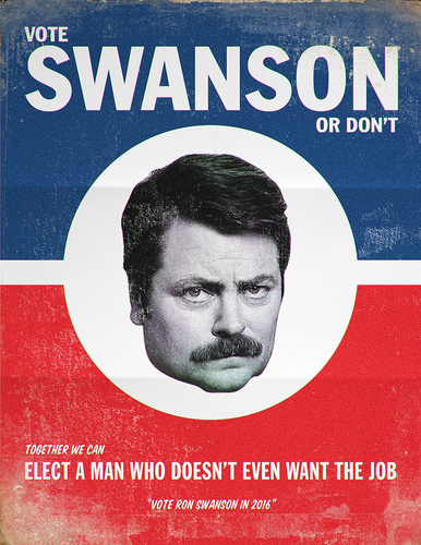Vote Ron Swanson  - parks-and-recreation Fan Art