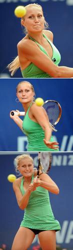 Kristina Antoniychuk in Green Giant Hitter