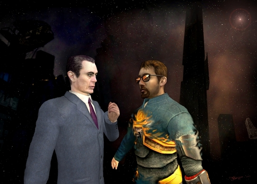 Half Life hình nền with a business suit entitled Wake up, Mr. Freeman