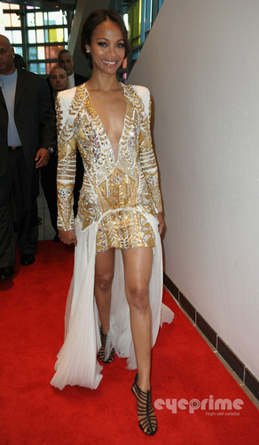 "Zoe Saldana: Red Carpet Screening of ""Colombiana"" in Miami"