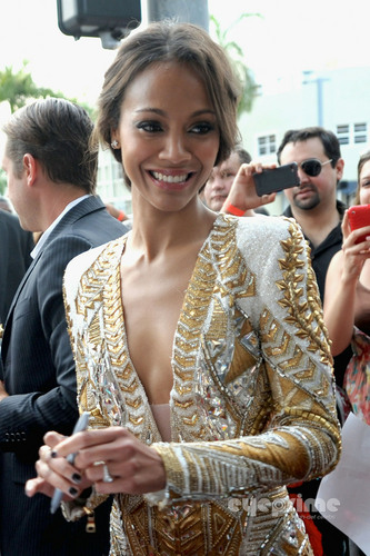 "Zoe Saldana: Red Carpet Screening of ""Colombiana"" in Miami"