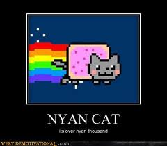 Nyan Cat Hintergrund titled awesome