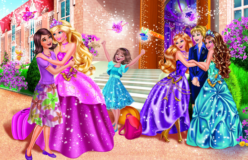 Barbie-Filme Hintergrund called Barbie princess charm school new