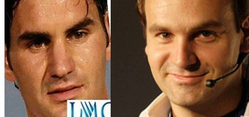 federer and his twin !