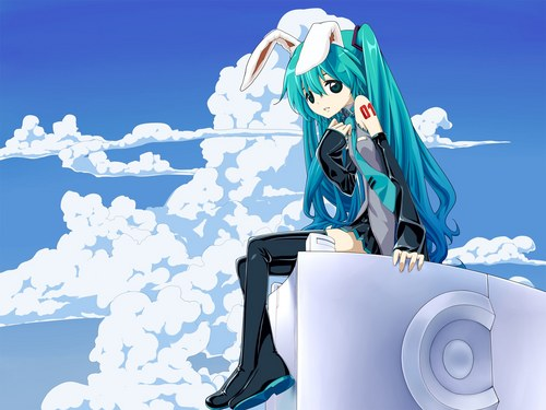 anime wallpaper probably with a lectern entitled hatsune miku