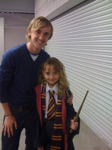Tom Felton and a little Фан