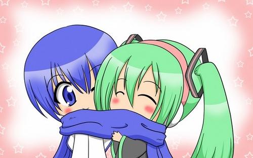 kaito and miku chibi