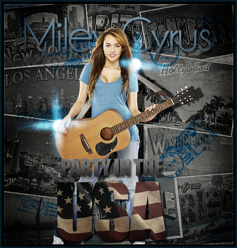 Disney Channel Stars wallpaper with a guitarist entitled miley albums