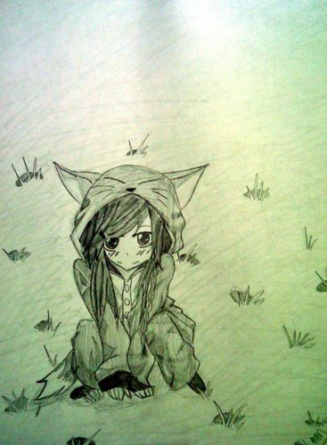 Anime Drawing Hintergrund probably with a sign and Anime titled my art