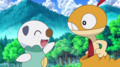 scraggy and oshawott meeting each other