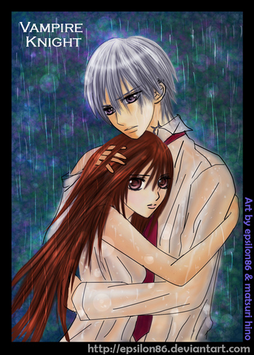 Vampire Knight karatasi la kupamba ukuta possibly containing a portrait and anime called yuuki x zero