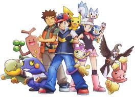 Ash Brock and pokemon