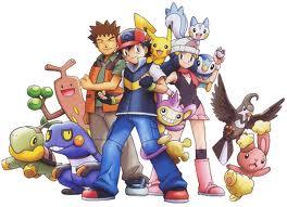 Ash Brock and pokemon