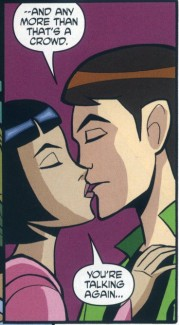 Ben 10 – Utimate Alien fond d'écran containing animé called Ben and Julie First Kiss