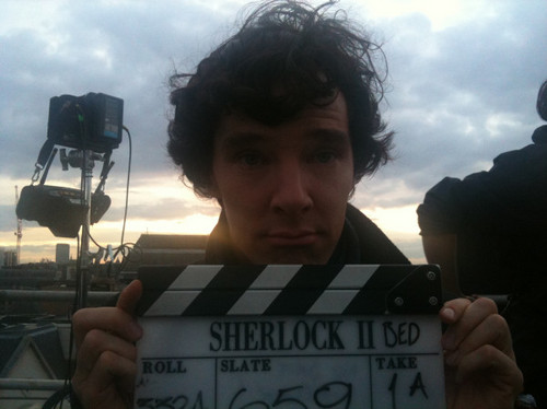 Benedict Cumberbatch filming SherlockSeries2 - benedict-cumberbatch Photo
