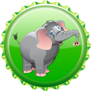 Lucky слон кепка, колпачок