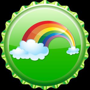 regenbogen kappe