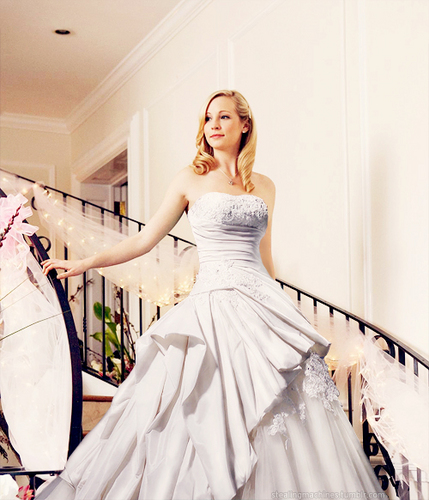 Caroline Forbes wallpaper probably with a gown, a dinner dress, and a bridal gown titled Carlonie<3