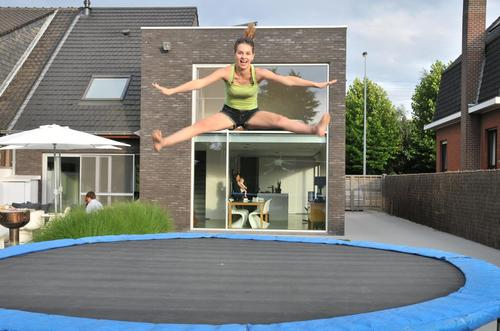 Celine on a trampoline... LOL