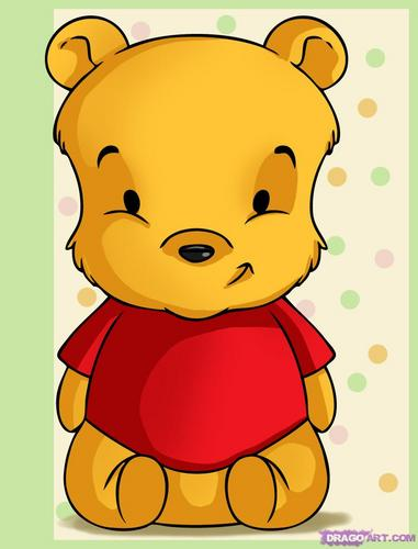 Cute Baby Pooh Drawing