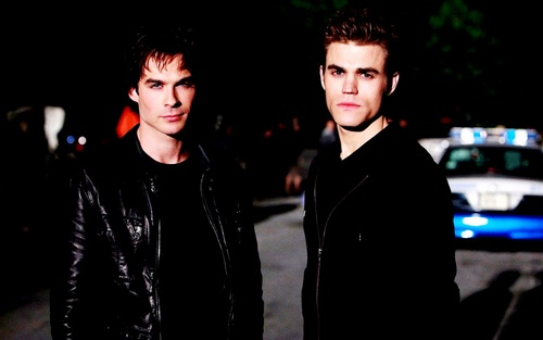 Damon and Stefan Salvatore wallpaper with a business suit, a well dressed person, and a suit entitled Damon&Stefan ✯