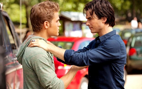 Damon and Stefan Salvatore پیپر وال entitled Damon&Stefan ✯