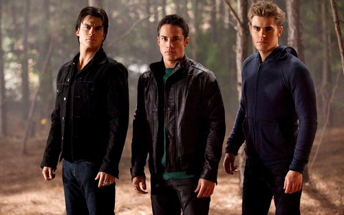 Damon and Stefan Salvatore 바탕화면 probably containing a business suit and a well dressed person titled Damon&Stefan ✯