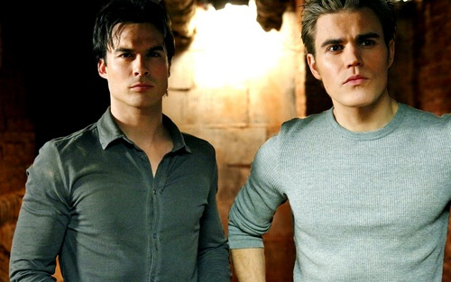 Damon and Stefan Salvatore پیپر وال titled Damon&Stefan ✯