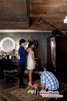 Damon giving Elena her birthday gift!