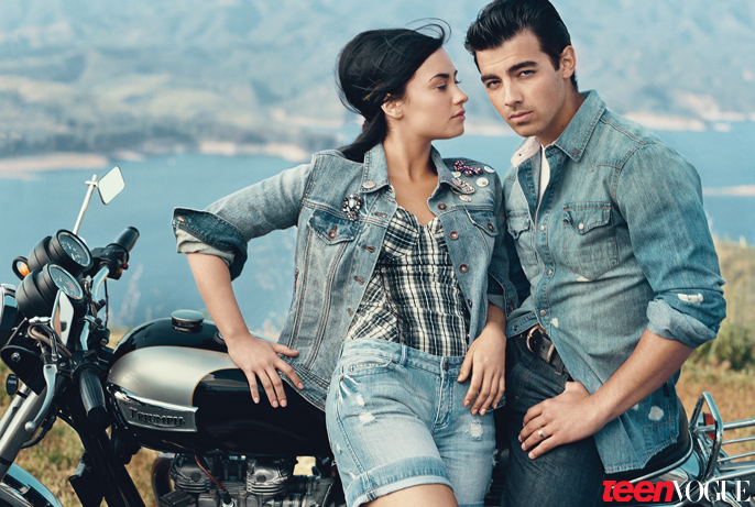 demi lovato and joe jonas images demi amp joe teen vogue