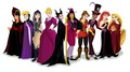 Disney Princesses as Disney Villains