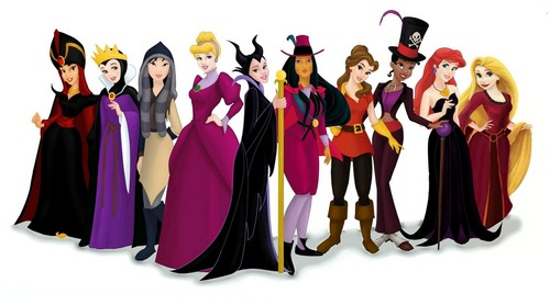 Disney Villains karatasi la kupamba ukuta entitled Disney Princesses as Disney Villains