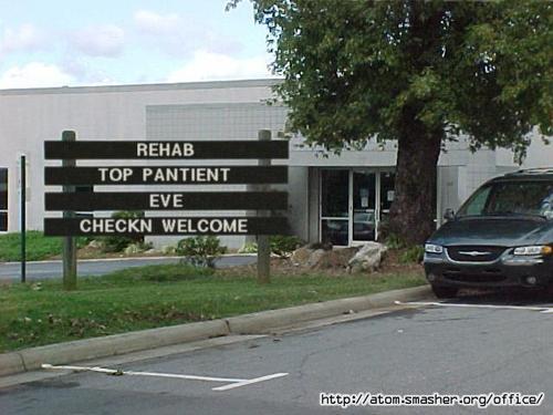 EVE puncak, atas rehab patient XD!