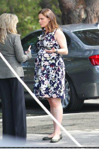 "Emily On the Set of ""Bones"" - August 22, 2011"