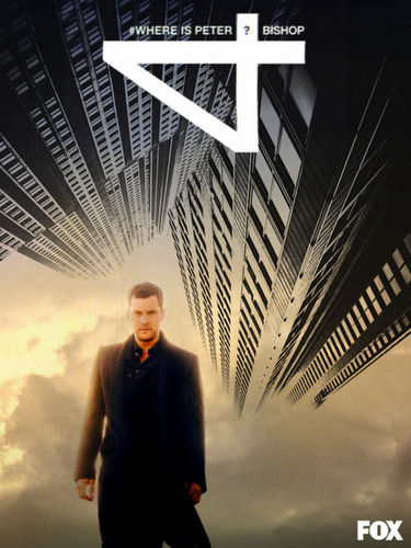 Fringe Hintergrund with a business suit, a well dressed person, and a suit titled Fringe Season 4 Fan-Made Poster