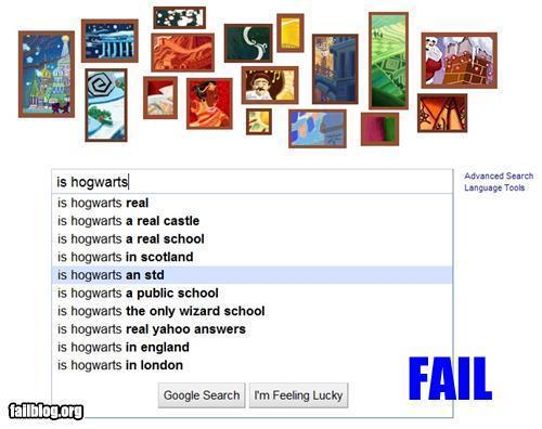 Hogwarts/Google fail