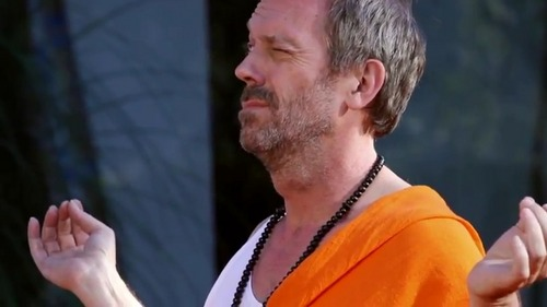 Hugh Laurie wallpaper probably containing a portrait entitled Hugh Laurie BTS-L'oreal Men Expert Vitalift