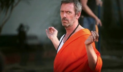 hugh laurie wallpaper titled Hugh Laurie BTS-L'oreal Men Expert Vitalift