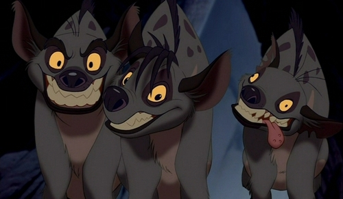 Hyenas from Lion King karatasi la kupamba ukuta called Hyena trio
