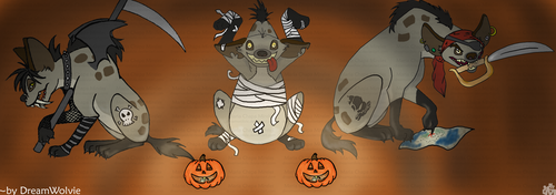 Hyenas from Lion King wolpeyper probably containing anime titled Hyenas Halloween