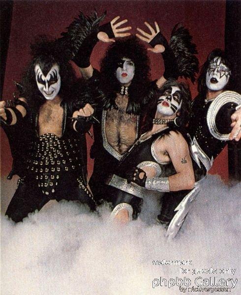 KISS 1975 Alive promo shoot